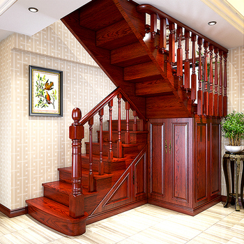 Solid Wood Stair Wooden Staircase Railing Designs India ...
