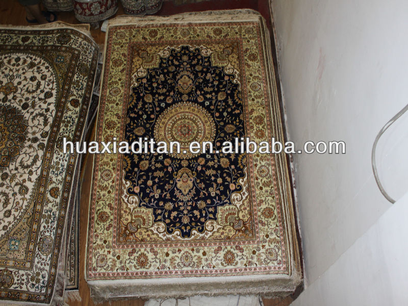 '4x6' Chinese art handmade silk carpet