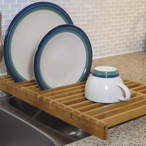 2017 New Product Over the Sink wooden dish drying rack