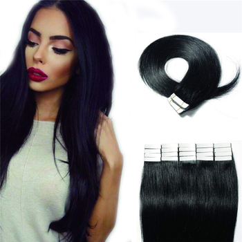 16 Inch Tape in Premium Real Human Hair Extensions 40 Pieces 100g Straight Women Beauty Style Tape Hair Extension Human Hair