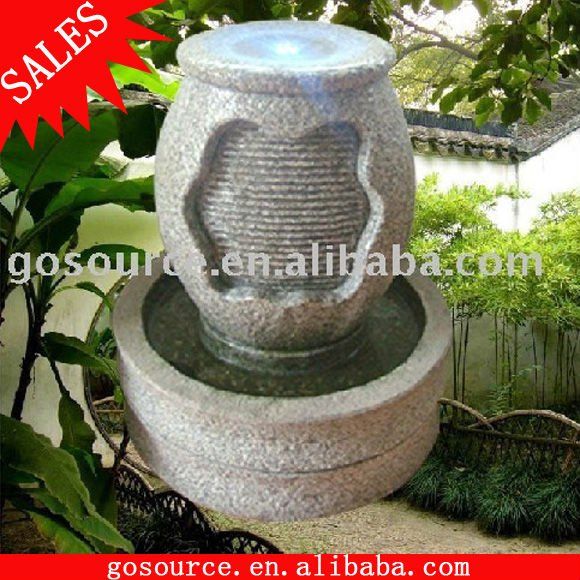 Stone electric water fountain
