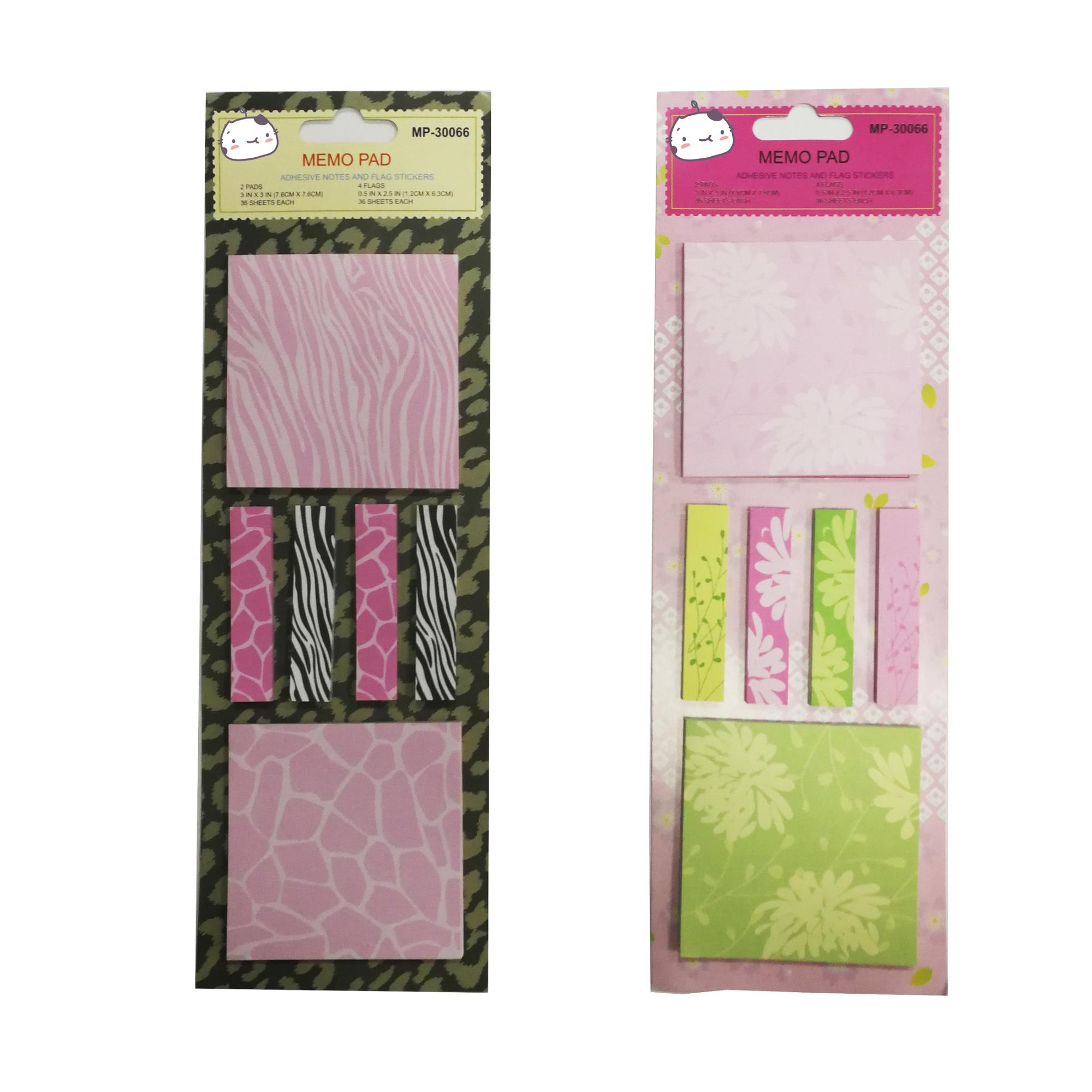 custom size/color cute flower printing self-adhesive sticky notes