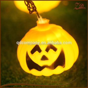 Single Yellow Light Halloween Pumpkin Faces Led Light Lamp - Buy ...