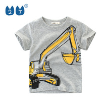 China Zhongshan factory supply baby <span class=keywords><strong>jongens</strong></span> puur katoen t-shirt met digger print