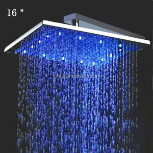 X15380 Stainless Steel 16 Inch Rain Shower Head LED
