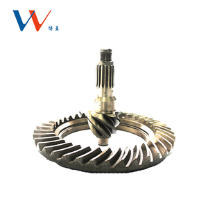 High precision conical spiral crown and pinion bevel differential gleason gear for dump truck and bus