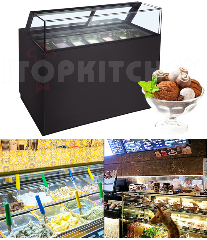 commercial Supermarket shop showcase/gelato freezer/ice cream display freezer refrigerator cabinet Ice Cream Keep Cooling