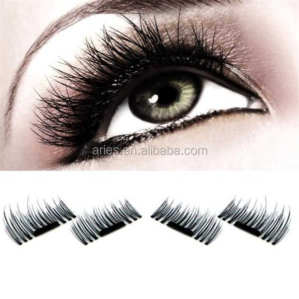 1Pair Magnetic Lashes 3D Reusable False Magnet Eye Lashes Eyelashes Without Glue