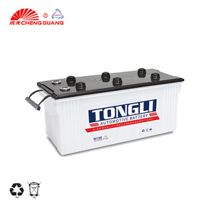 TONGLI brand Best N150 150Ah Dry Charged 12V Lead Acid Auto/Truck/Car Battery