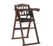 Wooden High Chair for Babies, Walnut Finish Toddlers High Chair for Bar Restaurant Cafeteria Dining Stool Infant Feeding, Conven