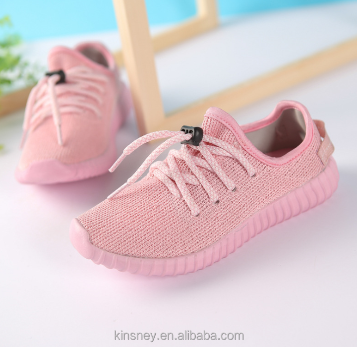 KS20327S 2017 New fashion style air permeability pink knitted running shoes