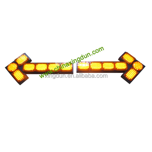 DC12V amber traffic directional flashing warning led arrow sign shaped light bar FS-2320-1
