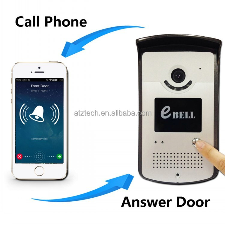eBELL IP Video Door Bell, Waterproof Intercom Camera Voip Door Phone
