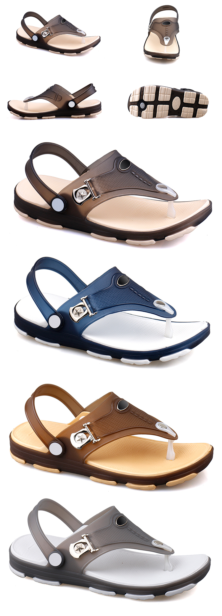 0ec1786be New Design Thong Jelly Shoes Clear Pvc Footwear Men Beach Sandals ...