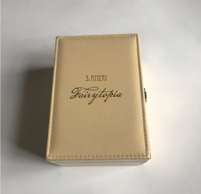 wholesale custom logo printing elegant PU leatherette  gift box for perfume packaging