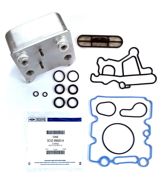 TamerX Engine Oil Cooler Kit with OEM Gaskets for 2003-2010 Ford Powerstroke 6.0 & Navistar VT365