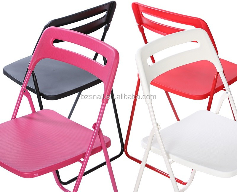 Durable Colored Metal Plastic Folding Chair Buy Colored Folding Chair Plast