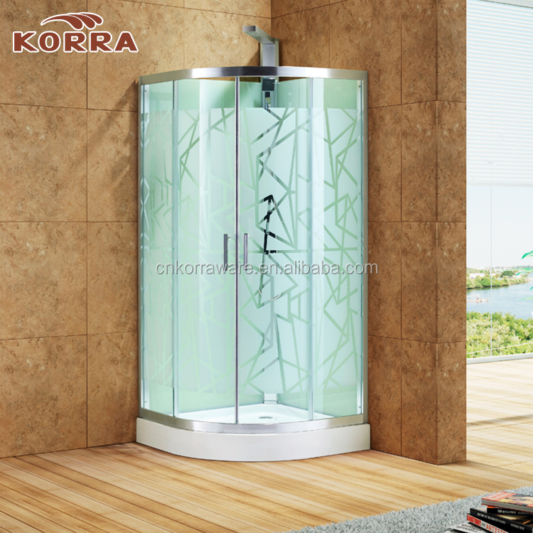 "New Customized Promotional 3/8"" tempered glass shower door,2 sided bath cubicle cabin shower enclosure"
