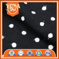 top selling manufacture embroidery polka dot woolen fabric