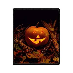 SOFTKIITY Custom Throws Happy Halloween Pumpkin Blankets Size 58inch x 80inch (Large)