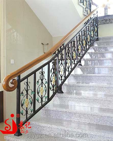 populaire pratique utilisation la main d corative fer forg forg rampe d 39 escalier int rieur. Black Bedroom Furniture Sets. Home Design Ideas