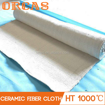 Steel wire reinforced high strength ceramic fiber cloth
