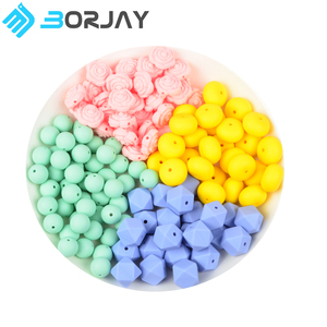 2018 High Quality Silicone Flower Soft Custom 8 mm Teething Beads