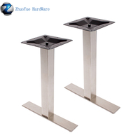 Zhuoyue furniture leg accessories metal pedestal double table legs stainless steel dining coffee table base