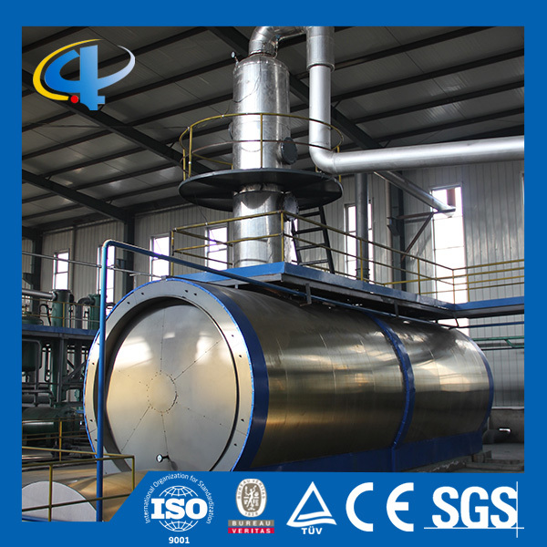 The Latest Design Waste Tyre Pyrolysis Oil Refining Distillation Plant in hot sale