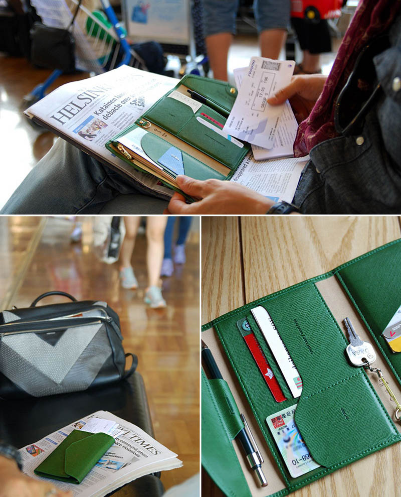 Travel Passport Cover Foldable Credit Card Holder Money Wallet ID Multifunction Documents Flight Bit License Purse Bag PC0045 (14)