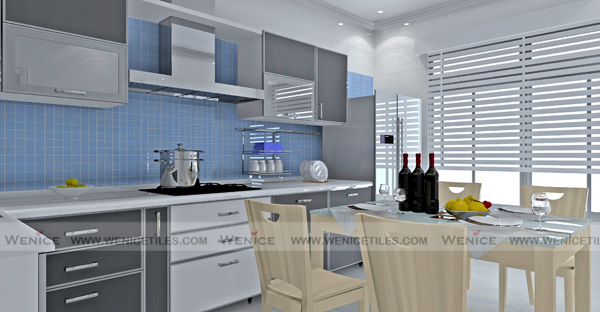 Manufacturer Of Blue Ceramic Tile Backsplash For Kitchen