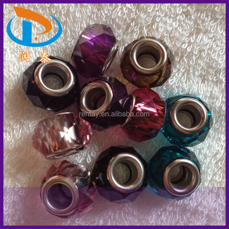 Discount Price 14MM Rose Colorful Round Lampwork Glass Murano Beads
