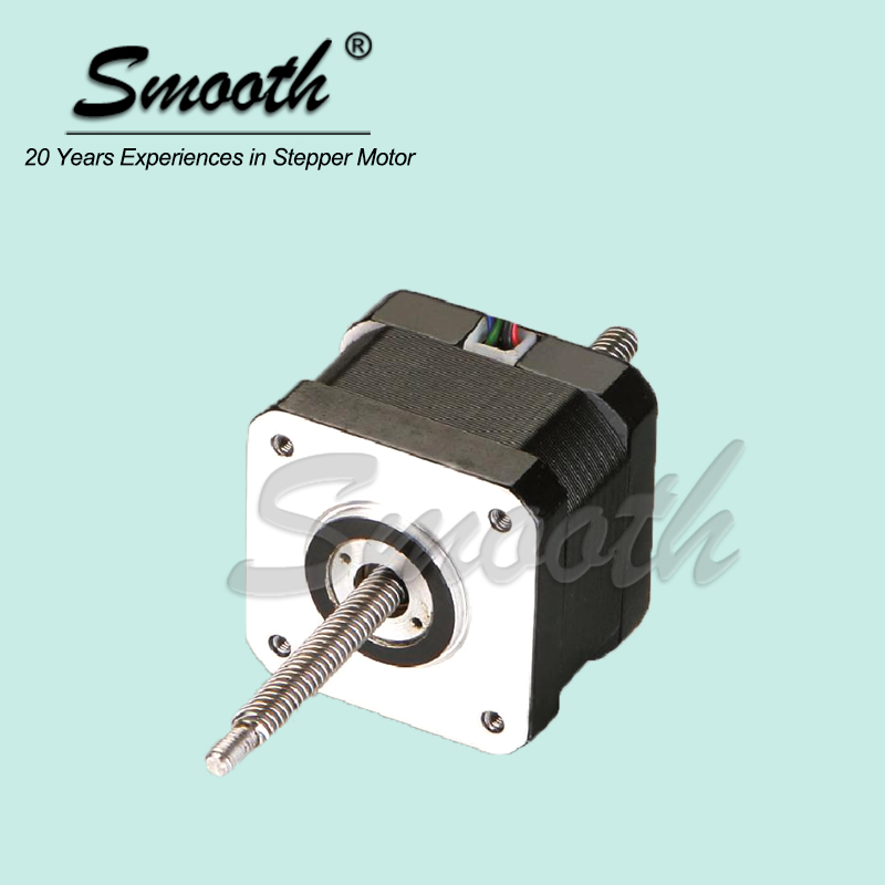 Smooth Motor Nema 17 1.8 degree Non-captive Linear Stepper Motor