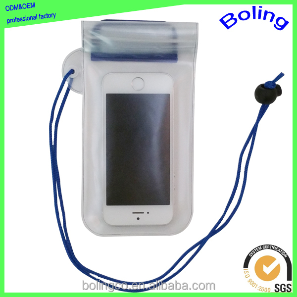 transparent PVC waterproof bag for phone