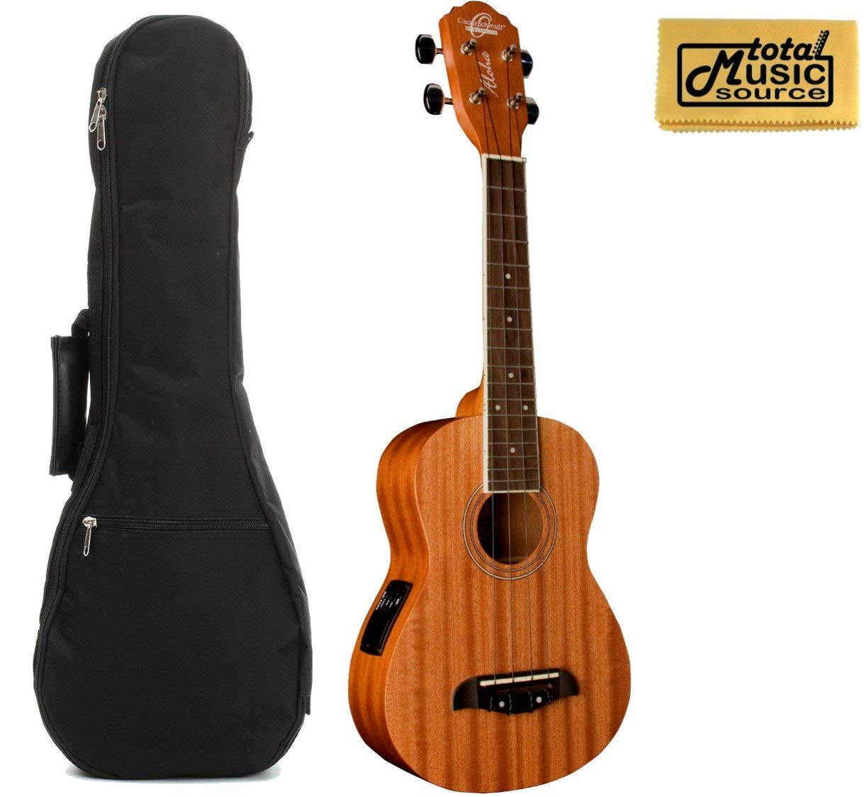 Oscar Schmidt Concert Active EQ, Acoustic Electric Ukulele, OU2E w/Padded Gigbag & PC