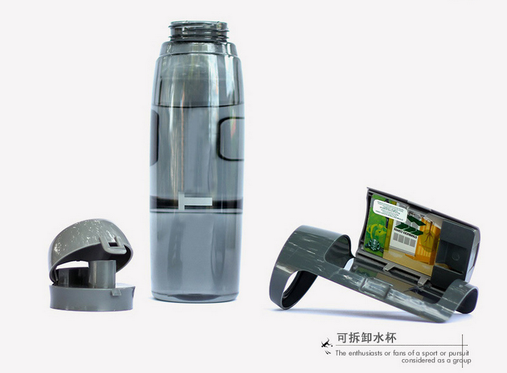 water bottle with storage compartment,750ml pet bottle,empty bottle water