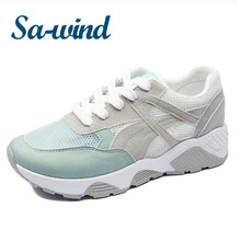 lastest design sneakers for women breathable mesh inner heightening casual shoes