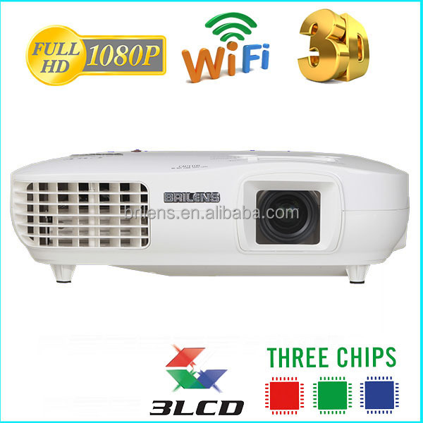 Brilens 1080P 5000 lumens 3led 3 lcd video <strong>projector</strong> china/3d mapping <strong>projector</strong> price