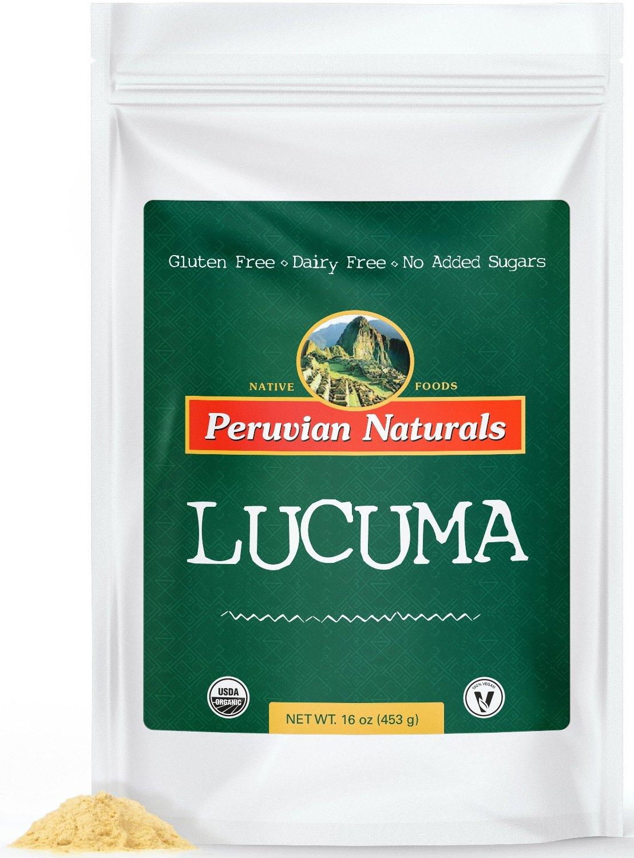 Organic Lucuma Powder 1lb (453g) - Peruvian Naturals | certified-organic fruit powder and sweetener