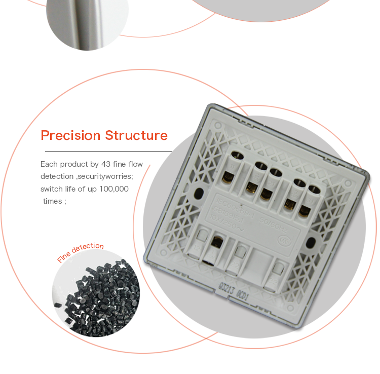 China Manufacturer Wholesale eu standard touch switch remote