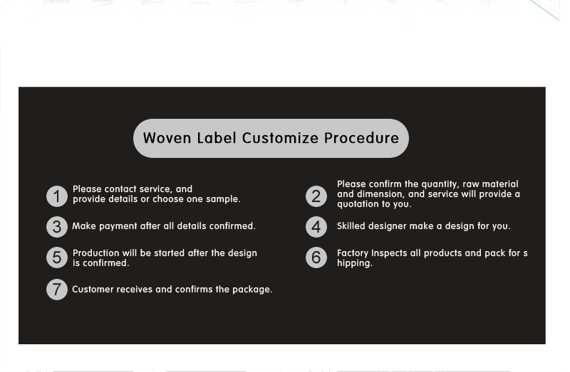 Garment Private Brand Clothing Tag Damask Polyester Soft Custom Woven Label