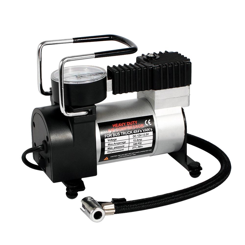 Double Cylinder Metal Portable Air Compressor Pump 12 V