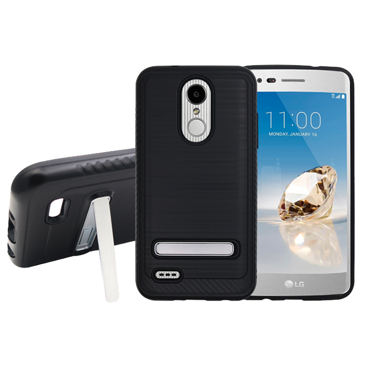 2018 superior best sale phone case for Lg aristo 2, with plastic belt clip