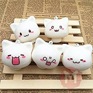 Squishy Toys Mushroom Cat Kawaii Cartoon Cute Face Decor Bag Cellphone Straps