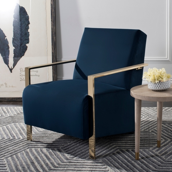 Hot Selling Gold Stainless Steel Living Room Leisure Side Arm Navy Chair -  Buy Stainless Steel Gold Living Room Chair,Black Pu Leather Hotel Side ...