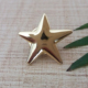 gold cute star shape metal lapel pin