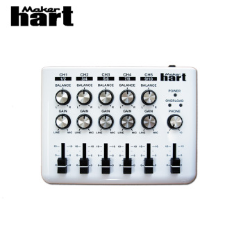 Maker hart 220-240V 3.5mm mini Audio Mixer Dj