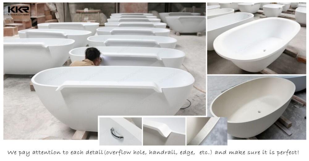 Pollici vasca da bagno ovale design freestanding vasche