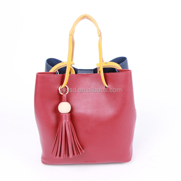 Famous Brand New Design Factory Wholesale Ladies Leather Tote Handbag