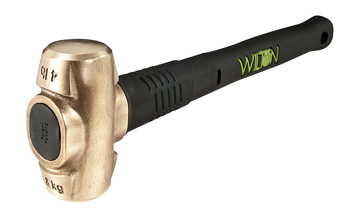 Wilton 90416 4-pound Head, 16 B.A.S.H Brass Hammer with Safety Plate Securing Head to Handle